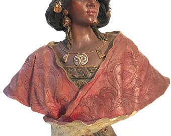 Art Nouveau Bust of Egyptian Woman