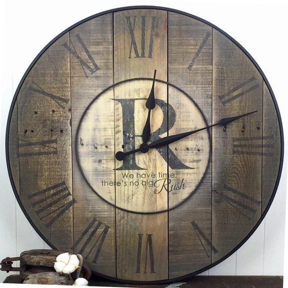 oversized wall clock family clock family name clock. Black Bedroom Furniture Sets. Home Design Ideas