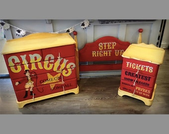 Kids CIRCUS themed bedroom furniture.