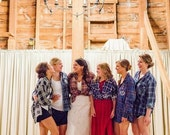 Bridal Party, Rustic Wedding, Bridal Party Gift,Bridesmaids Worn-In Vintage Flannel, All Sizes, Custom, Distressed Flannel, Assorted Colors