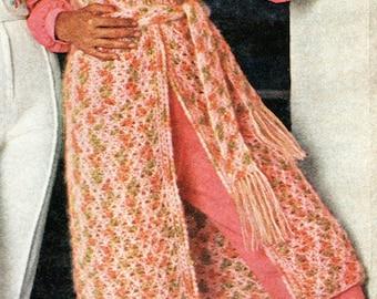 Vintage Duster Length Vest Crochet Pattern PDF Instant Download