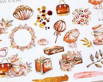 Planner Stickers Autumn Decorative for Erin Condren, Happy Planner, Filofax, Scrapbooking