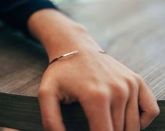 Simple silver bracelet - sterling silver bangle bracelet - stacking bracelets - dainty jewelry