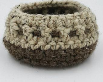 Crocheted Basket, Chunky Crocheted Basket, Storage Basket, Decorative Basket, Organizer Basket, Small Crochet Basket, Crochet Bowl