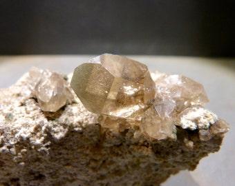 Smoky Quartz Specimen, 330g, cluster, EMF Protection, metaphysical, Switzerland, golden color, lodolite, chlorite, gift, metaphysical