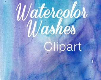 Watercolor Washes Clipart Commercial Use