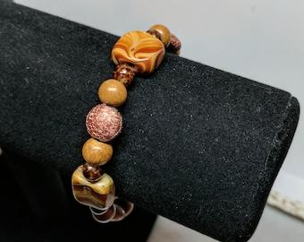 Amber Copper Orange Bracelet