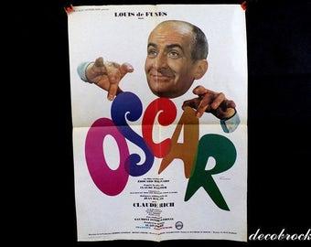 Vintage Oscar with Louis de Funes Ferracci vintage France vintagefr signed poster movie poster