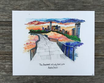 The Boardwalk at Lady Bird Lake, Austin TX Print