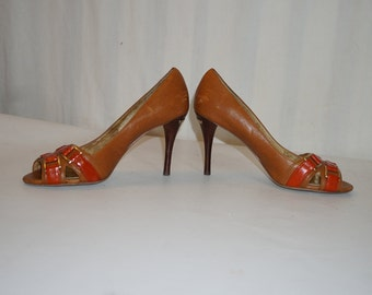 Vintage Michael Kors Pumps / Michael Kors Heels / Flashy Michael Kors Heels / Michael Kors Shoes / Size 8.5 Michael Kors shoes