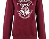 Harry Potter Hogwarts Logo master of death triangle crew neck shirt unisex womens mens ladies  print  sweatshirt