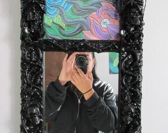 Black Gothic Mirror and Original Artwork