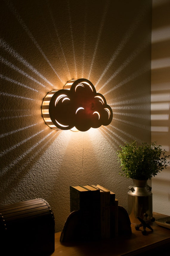Lights Hanging On Wall : Cloud Night Light Wall Hanging Baby & Kid s Room Lamp