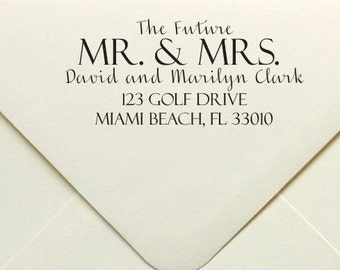 The Future Mr. & Mrs. Wedding Stamp, Custom Wedding Stamp, Rubber or Self Inking Stamp, Personalized Rubber or Self Inking Stamp