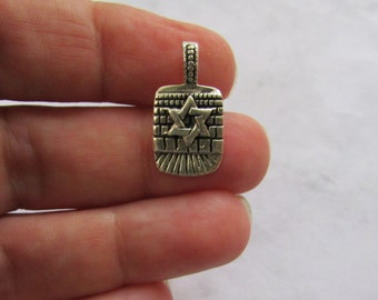 Star of David Pendant on Jerusalem wall, Star of David Charm, David Star Pendant, Solid 925 Sterling Silver
