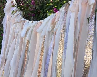 Wedding Backdrop Curtain - Wedding Backdrop - Rose Gold and Champagne Backdrop - Photo Booth Backdrop -  Elegant Wedding Decor
