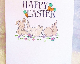 Easter Bunnies Note Card