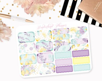 Lemons into Lemonade - Summer Fruits Themed Planner Stickers // Half Box Designs // Perfect for Erin Condren Vertical Life Planner