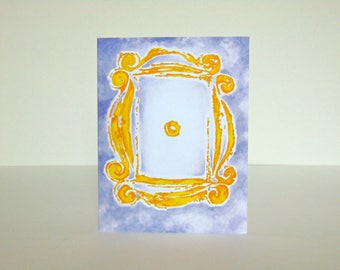 Friends Peephole Frame Greeting Card