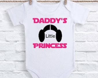 Star Wars Onesie, Princess Leia Baby, Star Wars Baby Shirt, Baby Girl Clothes, Star Wars Shower Gift, Star Wars Gift, Baby Shower Gift,