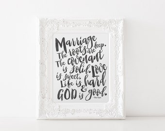 Valentines Gift - Gift for him - Gifts for Her - Wedding Gift - Marriage Signs - Marriage Gifts - Marriage Quotes - Wall Art for Bedroom