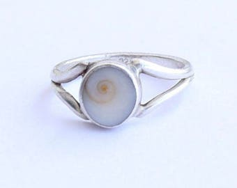 Shiva Eye Ring, Shiva Eye Shell Ring, Silver Ring, Solid Sterling Silver Ring, Sterling Silver Ring,size 3 4 5 6 7 8 9 10 11 12 13