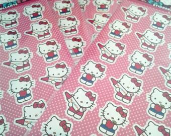 Hello Kitty Stickers, Sanrio Stickers, Planner Stickers, Planner Supplies, Kawaii Stickers