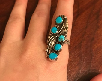 Vintage turquoise ring with great patina