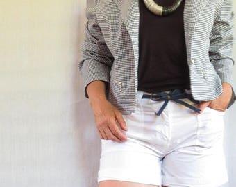 jacket blazer spencer vintage french Brigitte Bardot pin up gingham