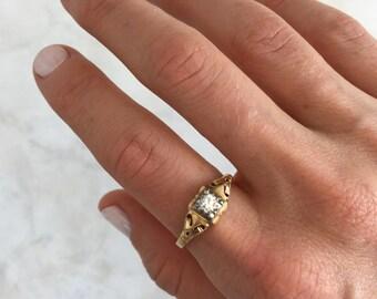 Vintage  Diamond Engagement Ring | Mid-Century | 14k Gold