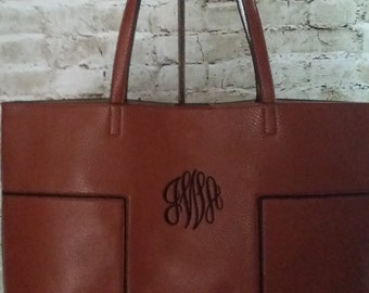 Faux (Vegan) Leather Tote/Bag with Shoulder Bag Insert - Verstaile!