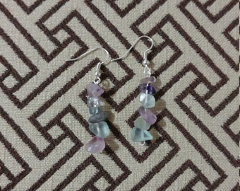 Bicolor flourite earrings