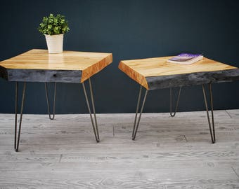 Set of Live Edge Spalted Maple Coffee/End Tables