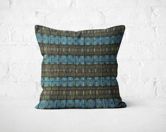 Grey Pillow Cover/ Bohemian living room/ Grey Silk Boho Pillow Cover/ Gray pillow/ Traditional decor/ Office décor/Pillow cover textured