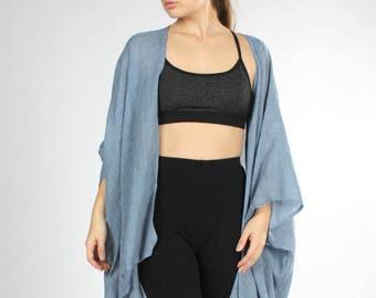 Boho Kimono, Kimono Cover up, Bohemian, Chambray, Swimsuit Cover up, Festival Clothing, Kimono Coverup, Lightweight Coverup, Boho Clothing