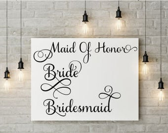 Bride Svg; Bridesmaid Svg; Maid of honor Svg; Wedding Svg