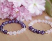 Friendship Bracelets Amethyst Bracelet Rose Quartz Bracelet Friendship Jewelry Couples Bracelets Matching Bracelets Friends Bracelets