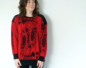 SALE! Vintage King of Hearts Sweater | Sprouts by Vicky Vaughn