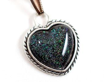 Cosmic heart pendant