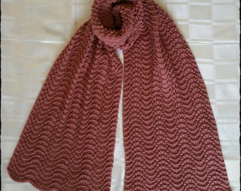 Knitted Fan&Feather Scarf