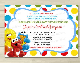 Superior Sesame Street Baby Shower Invitations , Elmo Baby Shower Invitations, 5x7,  Prints Or Digital
