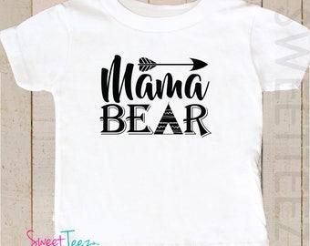Mama Bear Shirt Adult Toddler Papa Bear Brother Bear Sister BEar Shirt Hipster Shirt Baby Bodysuit Adult Shirt