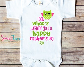 Happy First Mother's Day Mommy Shirt Owl  Look whoo Baby Bodysuit Personalized