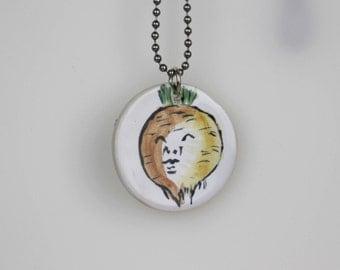 Onion Pendant + chain