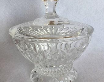 Vintage Oval Crystal Trinket Box