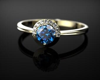 Yellow Gold Sapphire Ring Sapphire Engagement Ring Sapphire Ring Yellow Gold Yellow Gold Sapphire Ring September Birthstone