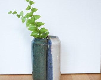 Handmade Vase, Blue White Ceramics, Pottery Flower Vase, Modern Home Decor, Ombre Ceramics, Housewarming, Anniversary Gift, Bridesmaid Gift