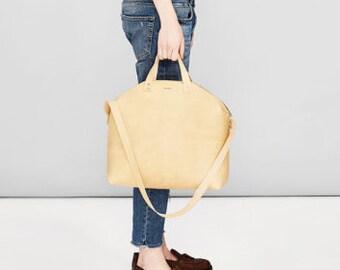 MADURA Leather Handbag Natural