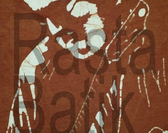 Grateful Dead Jerry Garcia hand made brown batik