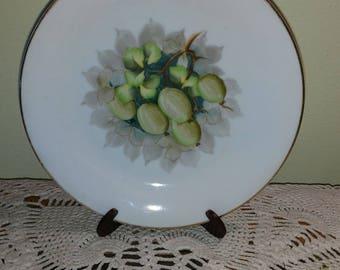 Vintage Ohata China Fig Design on Plate